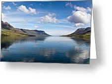 Seydisfjordur Fjord Greeting Card