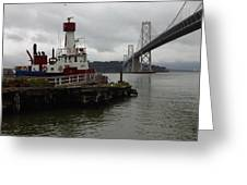 Sffd Fire Boat Greeting Card