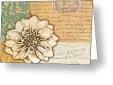 Shabby Chic Floral 1 Greeting Card by Debbie DeWitt