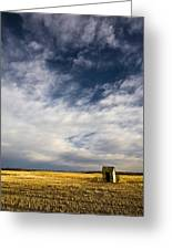 Shack In Field Greeting Card