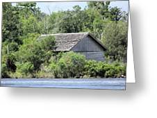 Shack On The River Greeting Card