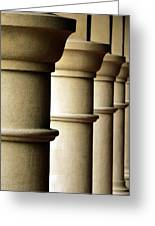 Shadow Columns  Greeting Card