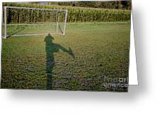 Shadow From A Football Player Greeting Card