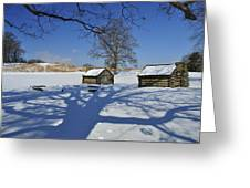 Shadow In The  Valley Forge Greeting Card