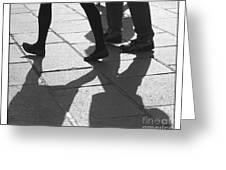 Shadow People Greeting Card