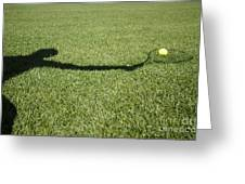 Shadow Playing Tennis Greeting Card