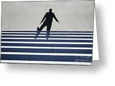 Shadow Walking The Stairs Greeting Card