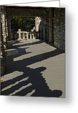 Shadows Cast On The Porch Of Gillette Greeting Card
