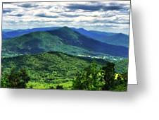 Shadows On The Mountains Greeting Card