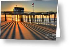 Shadows On The Shore Greeting Card