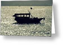 Shadows On The Water Greeting Card