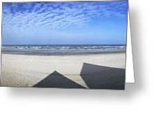 Shadows Utah Beach Greeting Card