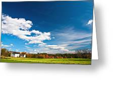 Shaker Village Farm House Greeting Card by Robert Clifford