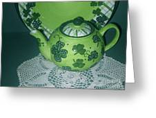 Shamrock Tea Greeting Card