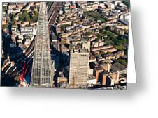 Shard London Aerial View Greeting Card