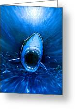 Shark Attack Greeting Card by Chris Butler