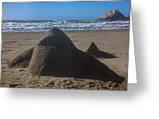 Shark Sand Sculpture Greeting Card