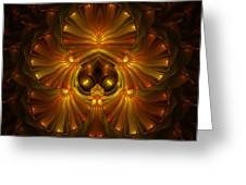 Shattered Five Leaf Clover Abstract Greeting Card