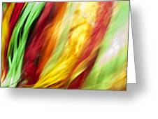 Shawl Dance Abstract Greeting Card
