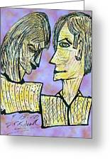 She And He Pen And Ink 2000 Digital Greeting Card