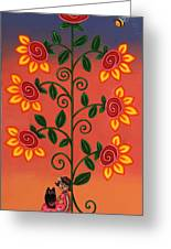 She Is Life Greeting Card by Victoria De Almeida