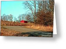 Shed Around The Bend Greeting Card