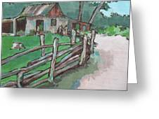 Sheep Sheering Shed Greeting Card