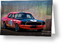Shelby Racing Co Mustang Greeting Card