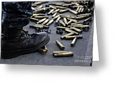 Shell Casings From A .50 Caliber Greeting Card