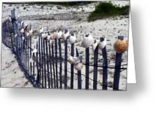 Shell-decorated Fence Greeting Card
