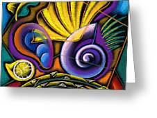 Shellfish Greeting Card by Leon Zernitsky