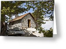 Shelter On The Peak Greeting Card