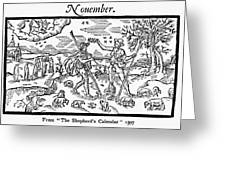 Shepherd, 1597 Greeting Card