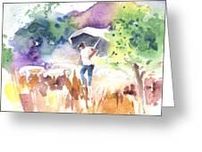Shepherd In Saint Bertrand De Comminges Greeting Card