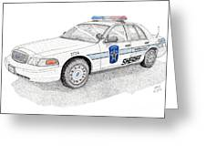 Sheriff Car 2724 Greeting Card by Calvert Koerber