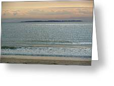 Shimmering Sunlight Upon The Sea Greeting Card