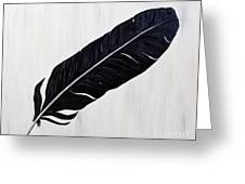 Shiny Feather Greeting Card