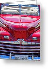 Shiny Red Ford Convertible. Greeting Card