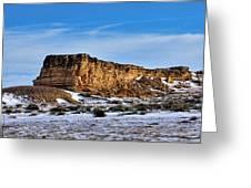 Ship Rock In Kansas Greeting Card