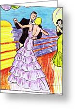 Shipboard Dancers Greeting Card