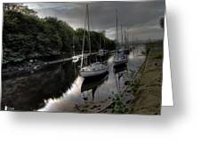Ships On The Almond River Greeting Card