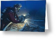 Shipwreck Excavation Greeting Card