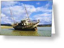 Shipwrecks, Bunbeg, Co Donegal Greeting Card