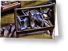 Shoe - The Shoe Cobblers Box Greeting Card