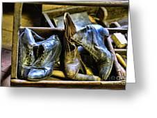 Shoe - Vintage Ladies Boots Greeting Card