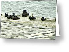 Shoes On The Danube Bank - Budapest Greeting Card