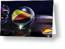 Shooting Marbles Greeting Card