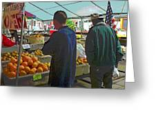 Shopping At The Farmers Market Greeting Card