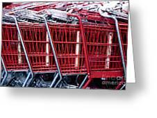Shopping Carts Greeting Card by Sam Bloomberg-rissman