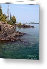 Shore Of Isle Royale Greeting Card